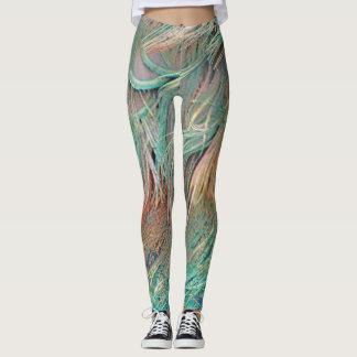 Legging penas exóticas