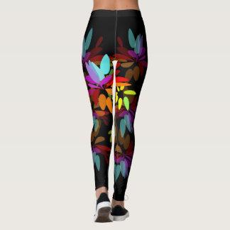 Legging Pétalas eufóricos do arco-íris do Hippie de Moder