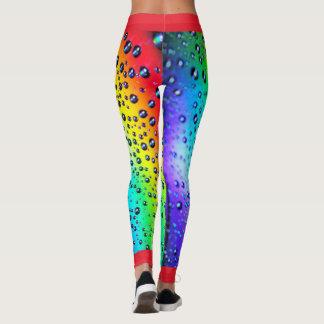 Legging Pingos de chuva do arco-íris