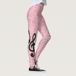 Legging Poema lírico cor-de-rosa