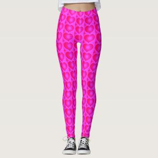 Legging Presente cor-de-rosa bonito da forma de