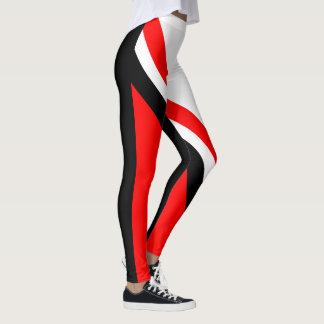 Legging Preto branco vermelho