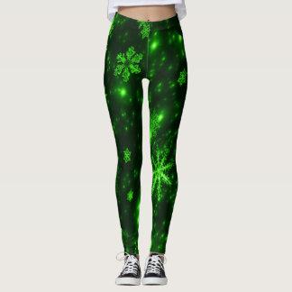 Legging Profundamente - caneleiras verdes & brilhantes dos