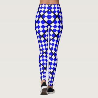 Legging Quadrado Checkered branco azul de NOVEMBRO