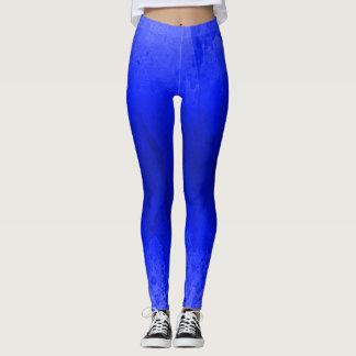 Legging Quadril encantador do exercício azul furioso da