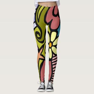 Legging Quase arte moderna abstrata de Picasso