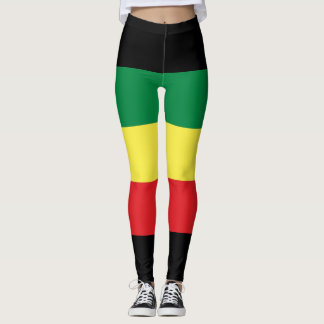 Legging Rastafara Power - Rasta yoga reggae genebra de pôr