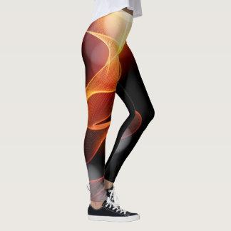 Legging Redemoinho da arte abstracta