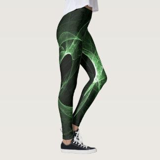 Legging Redemoinhos abstratos do verde