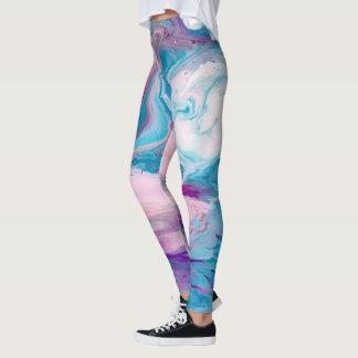 Legging Redemoinhos de mármore coloridos do estilo