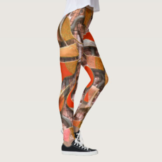 Legging Remos e lemes (alaranjados)
