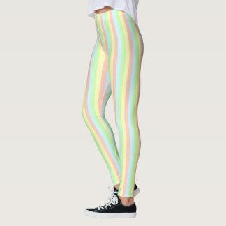 Legging Riscas do Pastel do arco-íris