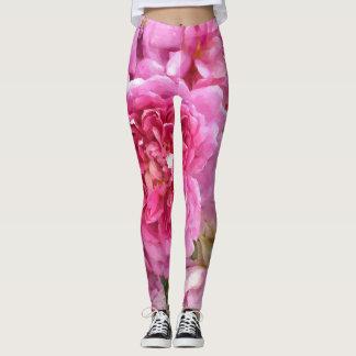 Legging Rosas cor-de-rosa, florais