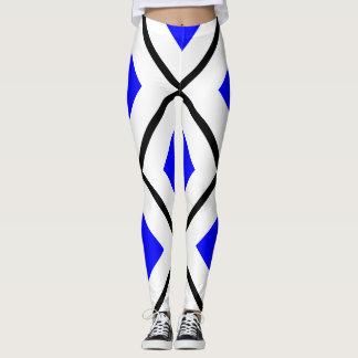 Legging SERRA branco com quadrado azul