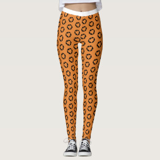 Legging Shorts da bicicleta do leopardo
