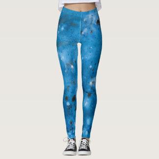 Legging Splat de mármore azul escuro