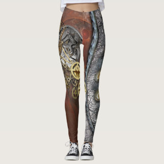 Legging Steampunk no couro