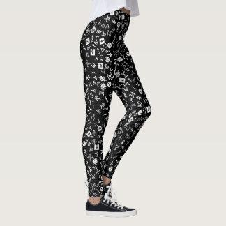 Legging Symbolicon branco e preto