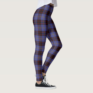 Legging Tartan escocês do Rutherford do clã