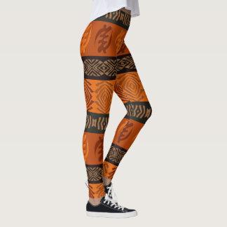 Legging Teste padrão africano étnico com simbols de