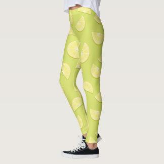 Legging Teste padrão bonito do limão dos desenhos animados