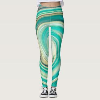 Legging Teste padrão colorido abstrato #5 do Fractal