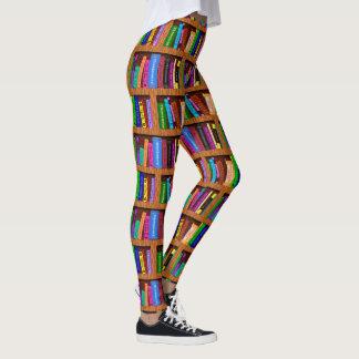 Legging Teste padrão colorido da leitura da estante | da