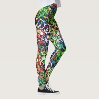 Legging Teste padrão colorido das bicicletas - as