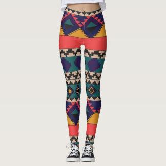 Legging Teste padrão colorido de caneleiras do amor