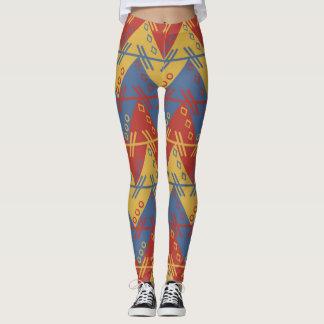 Legging Teste padrão colorido do Expressionism geométrico