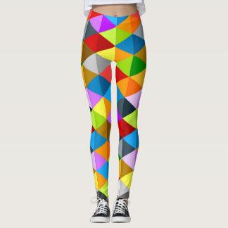 Legging Teste padrão colorido funky brilhante moderno dos
