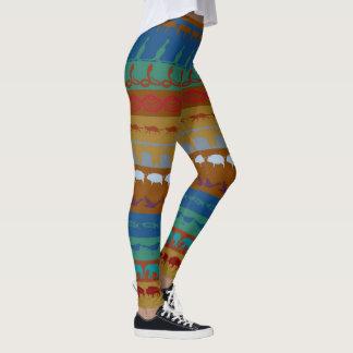 Legging Teste padrão colorido retro #6 dos animais