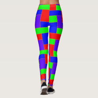 Legging Teste padrão colorido sem emenda de oblongo