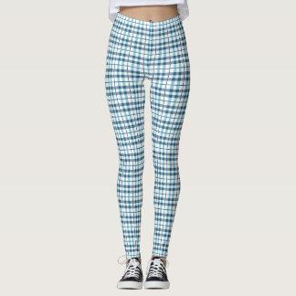 Legging Teste padrão confortável da xadrez do pijama