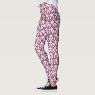 Legging Teste padrão cor-de-rosa bonito floral das flores