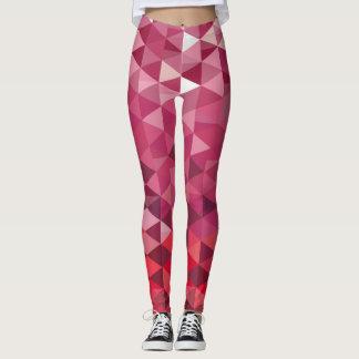 Legging Teste padrão cor-de-rosa e roxo do triângulo