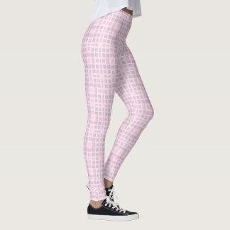 Legging Teste padrão de mosaico cor-de-rosa