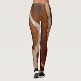 Legging Teste padrão do impressão do animal selvagem da