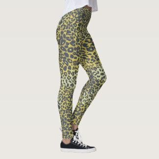 Legging Teste padrão do impressão do leopardo