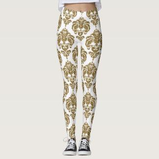 Legging Teste padrão elegante moderno chique do ouro & do