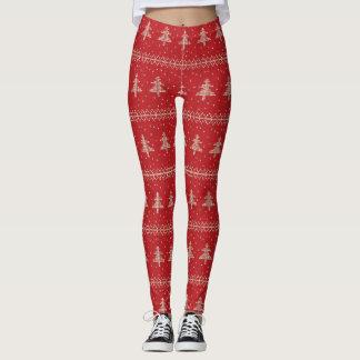 Legging Teste padrão feio lindo da camisola do Natal do
