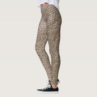 Legging Teste padrão felino Jaguar do impressão animal -