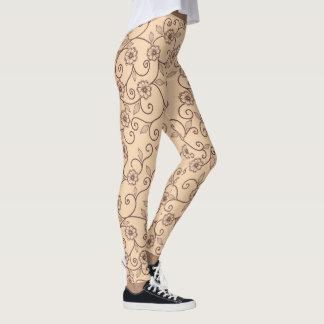 Legging Teste padrão floral