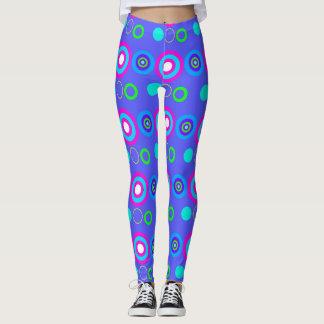 Legging Teste padrão geométrico decorativo azul