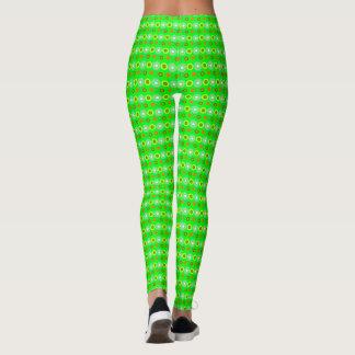 Legging Teste padrão geométrico decorativo verde