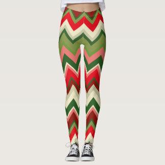 Legging Teste padrão geométrico do Natal sem emenda