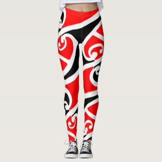 Legging Teste padrão maori 2 de Kowhaiwhai