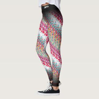Legging Teste padrão multicolorido abstrato