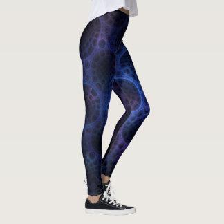 Legging Teste padrão poroso azul e roxo