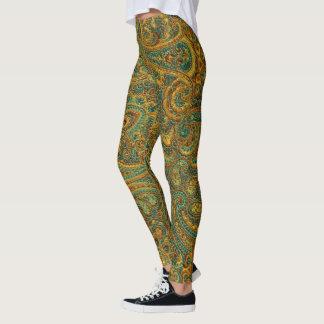 Legging Teste padrão retro colorido de Paisley